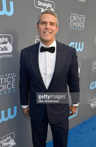 Personality Andy Cohen attends The 23rd Annual Critics' Choice Awards at Barker Hangar on January 11, 2018 in Santa Monica, California.