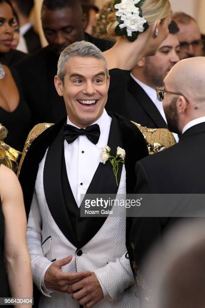 TV personality Andy Cohen attends the Heavenly Bodies Fashion The Catholic Imagination Costume Institute Gala at The Metropolitan Museum of Art on...