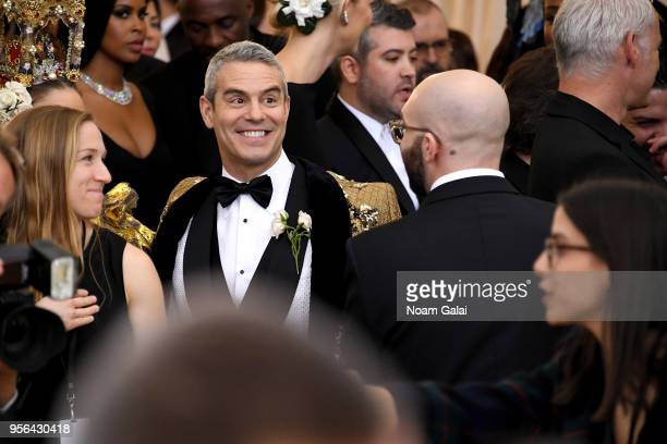 Personality Andy Cohen attends the Heavenly Bodies: Fashion & The Catholic Imagination Costume Institute Gala at The Metropolitan Museum of Art on...