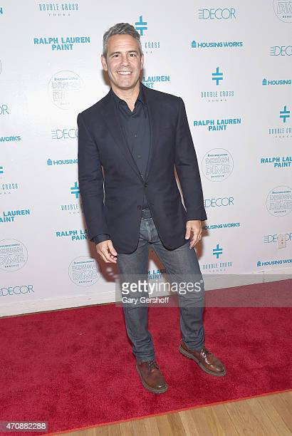 TV personality Andy Cohen attends The Housing Works Design On A Dime 2015 Event at Metropolitan Pavilion on April 23 2015 in New York City