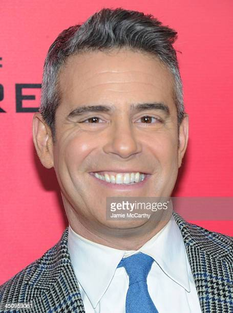 TV personality Andy Cohen attends the Hunger Games Catching Fire New York Premiere at AMC Lincoln Square Theater on November 20 2013 in New York City