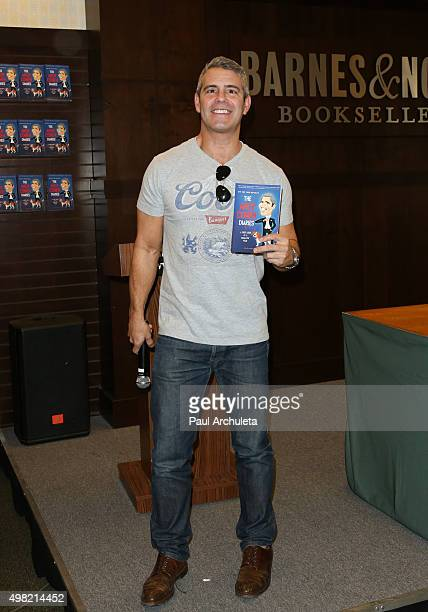 """Personality Andy Cohen signs copys of his new book """"The Andy Cohen Diaries: A Deep Look At A Shallow Year"""" at Barnes & Noble at The Grove on November..."""