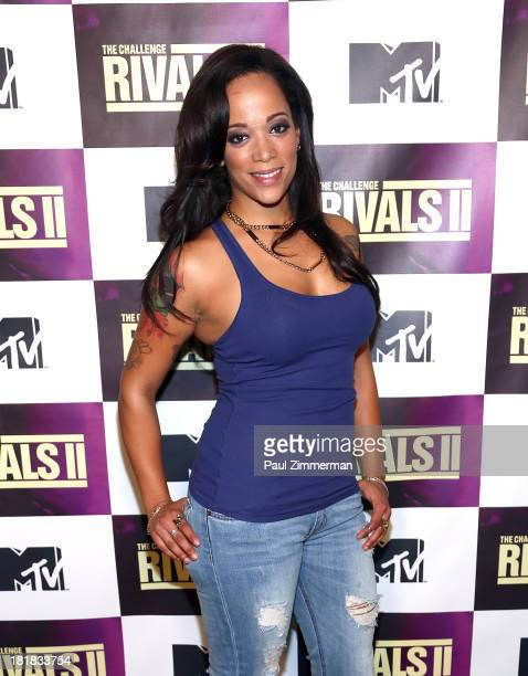 TV personality Aneesa Ferreira attends MTV's 'The Challenge Rivals II' Final Episode and Reunion Party at Chelsea Studio 'B' on September 25 2013 in...