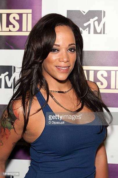 TV personality Aneesa Ferreira attends MTV's 'The Challenge Rivals II' Final Episode and Reunion Party at Chelsea Studio on September 25 2013 in New...