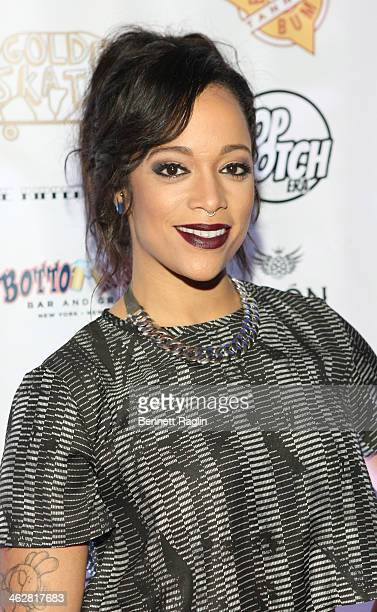 TV personality Aneesa Ferreira attends MTV's 'The Real World ExPlosion' Season Premiere Party at Bottomz Up Bar and Grill on January 14 2014 in New...