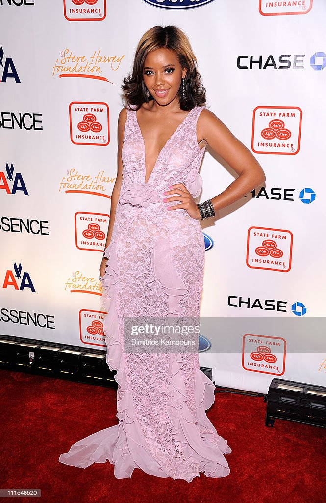 TV personality Angela Simmons attends the 2nd annual Steve Harvey Foundation Gala at Cipriani, Wall Street on April 4, 2011 in New York City.