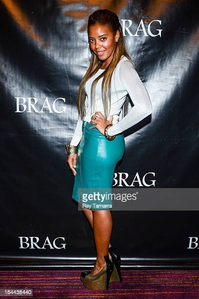 TV personality Angela Simmons attends the BRAG 42nd annual Scholarship and Awards gala at Pier 60 on October 19 2012 in New York City
