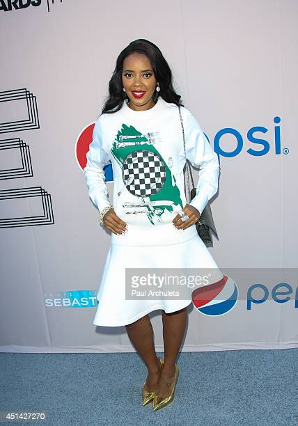 Personality Angela Simmons attends the Pre 'BET Awards' Dinner at Milk Studios on June 28 2014 in Los Angeles California