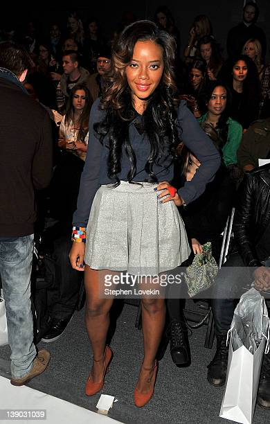 TV personality Angela Simmons attends the Whitney Eve Fall 2012 fashion show during MercedesBenz Fashion Week at The Studio at Lincoln Center on...