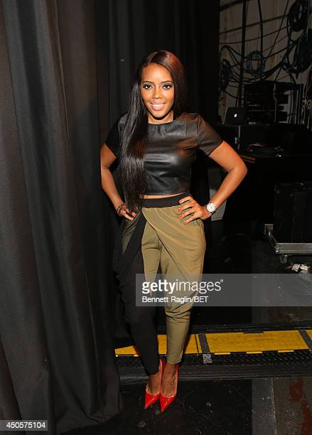 TV personality Angela Simmons visits106 Park at BET studio on June 11 2014 in New York City