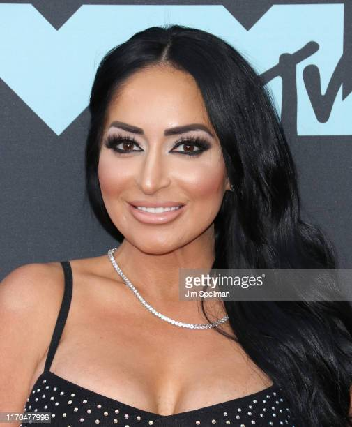 Personality Angelina Pivarnick attends the 2019 MTV Video Music Awards at Prudential Center on August 26, 2019 in Newark, New Jersey.