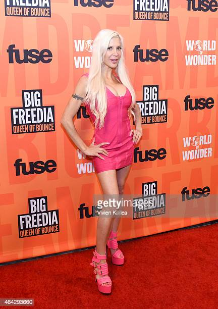 TV personality Angelique Frenchy Morgan attends the 'Twerk Of Art' Photography Collection from Big Freedia at World Of Wonder on February 23 2015 in...