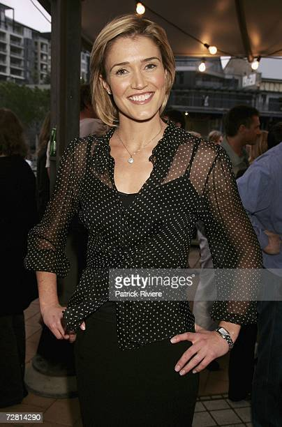 TV personality Anna Coren attends the Channel Seven Christmas drinks party in Pyrmont on December 13 2006 in Sydney Australia