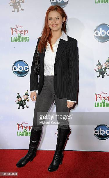 TV personality Anna Trebunskaya attends the Los Angeles Premiere of Disney's 'Prep Landing' at the El Capitan Theatre on November 16 2009 in...
