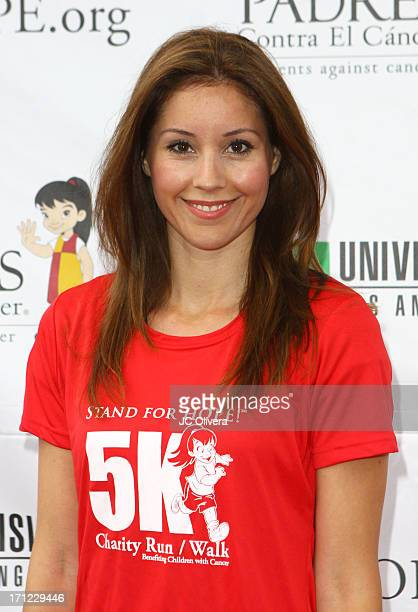 Personality Annabelle Sedano attends Padres Contra El Cancer's 6th Annual 'Stand For HOPE' 5K Charity Run/Walk at Rose Bowl on June 23 2013 in...