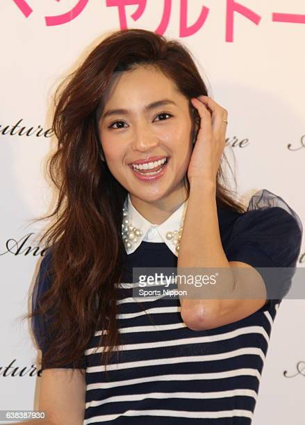 TV personality Anne Nakamura attends 'And Couture' promotional event on March 8 2015 in Tokyo Japan