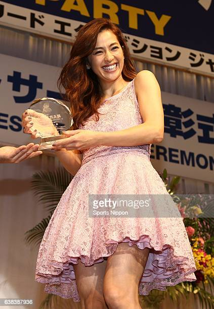 TV personality Anne Nakamura attends the 28th Japan Best Dressed Eyes Awards Ceremony on October 6 2015 in Tokyo Japan
