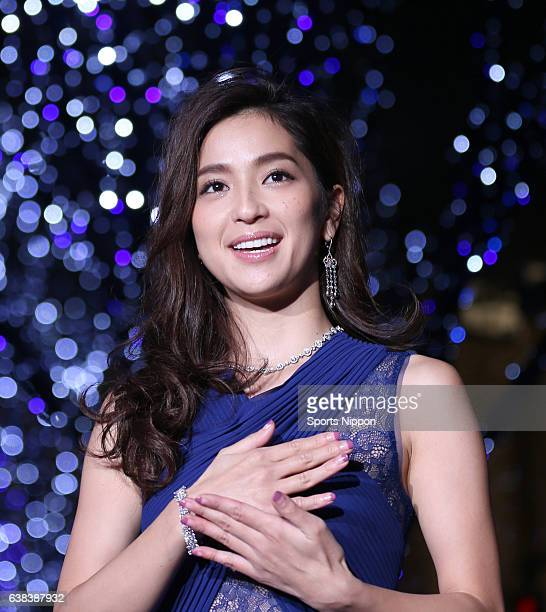TV personality Anne Nakamura attends the Roppongi Hills Christmas Lighting Ceremony on November 4 2014 in Tokyo Japan