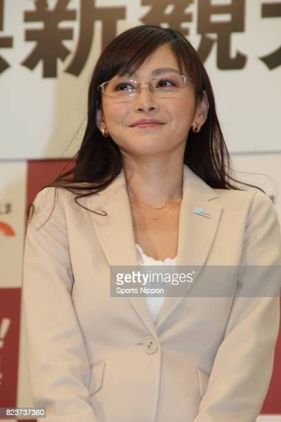 TV personality Anri Sugihara attends Hiroshima Prefecture PR event on March 27 2012 in Tokyo Japan