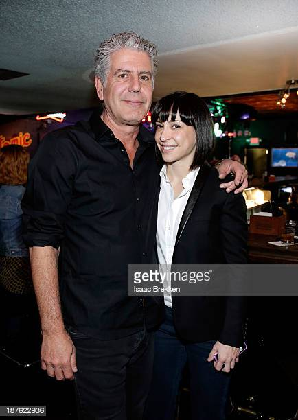 Personality Anthony Bourdain and Ottavia Bourdain attend 'Parts Unknown Last Bite' Live CNN Talk Show hosted by Anthony Bourdain at Atomic Liquors on...