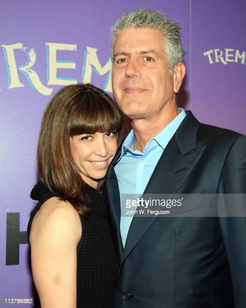 TV personality Anthony Bourdain and wife Ottavia Busia attend the 'Treme' New York Premiere at The Museum of Modern Art on April 21 2011 in New York...