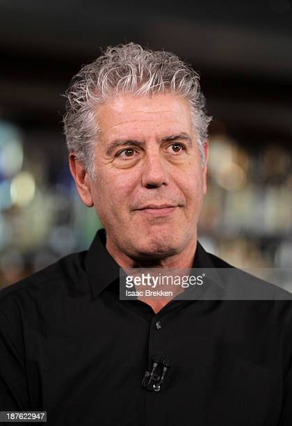 TV personality Anthony Bourdain attends 'Parts Unknown Last Bite' Live CNN Talk Show hosted by Anthony Bourdain at Atomic Liquors on November 10 2013...