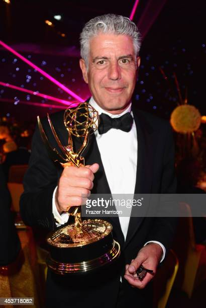TV personality Anthony Bourdain attends the Governors Ball during the 2014 Creative Arts Emmy Awards at Nokia Theatre LA Live on August 16 2014 in...
