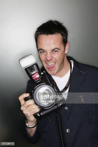 TV personality Anthony McPartlin poses at a studio session to promote his and Declan Donnelly's debut film 'Alien Autopsy' ahead of its UK Premiere...