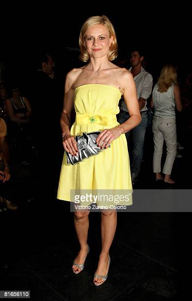 TV personality Antonella Elia attends Carlo Pignatelli Outside fashion show as part of Milan Fashion Week Spring/Summer 2009 on June 21 2008 in Milan...