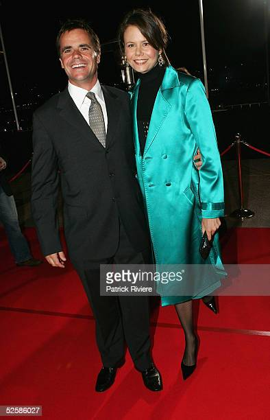 """Personality Antonia Kidman and her husband Angus Hawley attend the red carpet of the World Premiere of her latest movie """"The Interpreter"""" at the..."""
