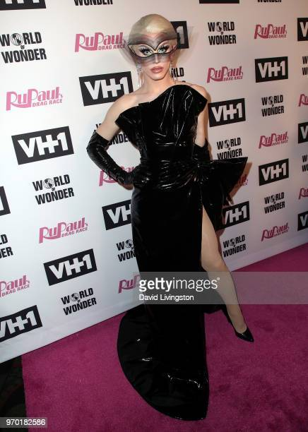 TV personality Aquaria attends VH1's 'RuPaul's Drag Race' Season 10 Finale at The Theatre at Ace Hotel on June 8 2018 in Los Angeles California
