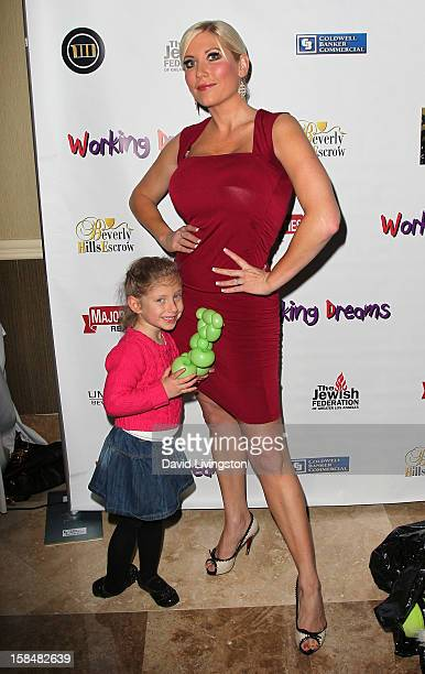 TV personality Ariane Bellamar and daughter Emma Bellamar attend the Working Dreams and Families For Children annual holiday season event at the...