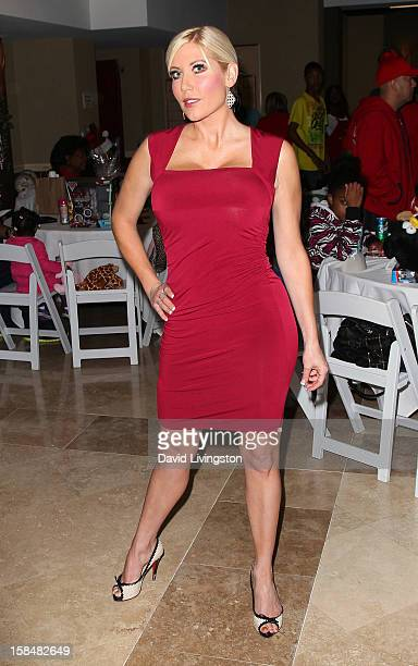 TV personality Ariane Bellamar attends the Working Dreams and Families For Children annual holiday season event at the Marriott Courtyard on December...