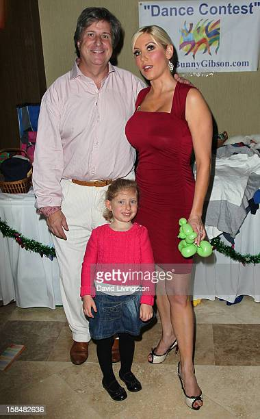 TV personality Ariane Bellamar husband Barry Pettitt and daughter Emma Bellamar attend the Working Dreams and Families For Children annual holiday...