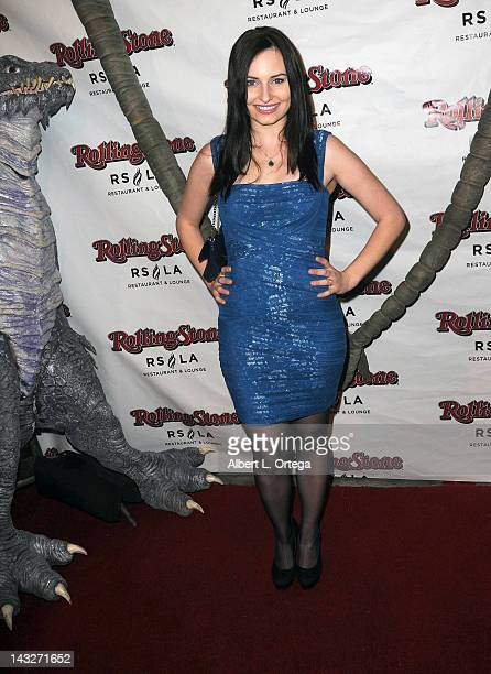 Personality Ariel Teal Toombs arrives for the Wrap Party For SYFY Networks' 'Monster Man' Season 2 held at Rolling Stone Restaurant And Lounge on...