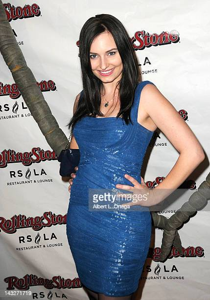 Personality Ariel Teal Toombs arrives for the Wrap Party For SYFY Networks' Monster Man Season 2 held at Rolling Stone Restaurant And Lounge on April...