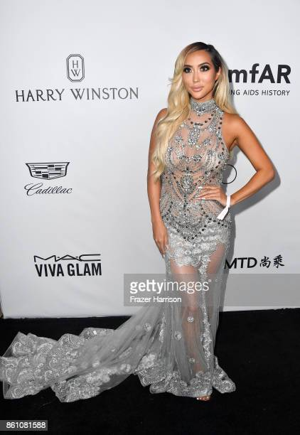 TV personality Arika Sato attends the amfAR Gala at Ron Burkle's Green Acres Estate on October 13 2017 in Beverly Hills California