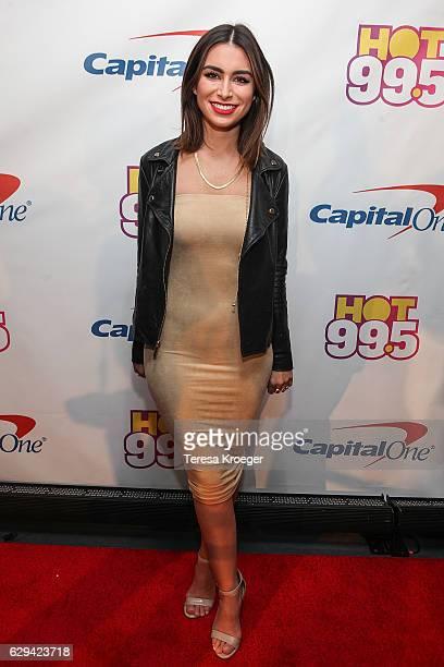 TV personality Ashley Iaconetti arrives at Hot 995's Jingle Ball 2016 at Verizon Center on December 12 2016 in Washington DC