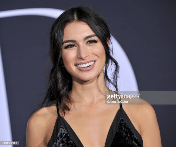TV personality Ashley Iaconetti arrives at the premiere of Universal Pictures' 'Fifty Shades Darker' at The Theatre at Ace Hotel on February 2 2017...