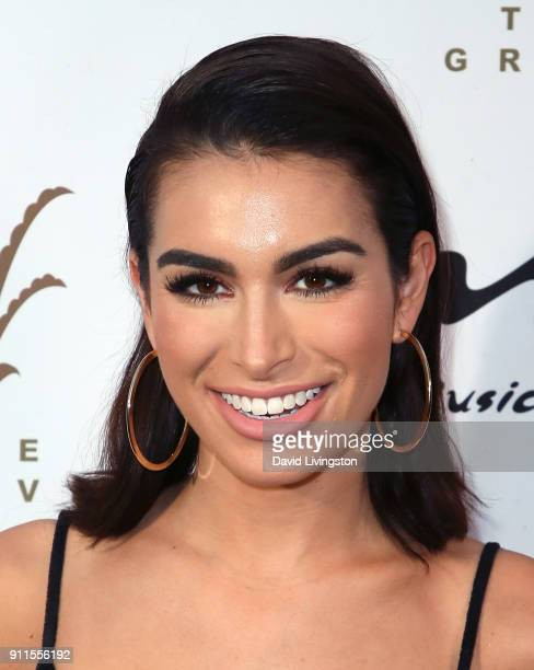 TV personality Ashley Iaconetti attends a GRAMMY viewing party and reception hosted by Celebrity Page KCALTV and KCBSTV at La Piazza on January 28...