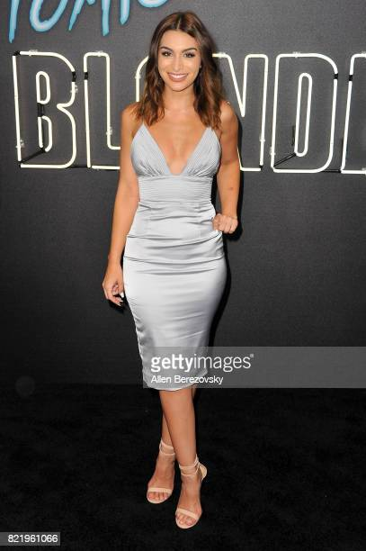 TV personality Ashley Iaconetti attends the premiere Of Focus Features' 'Atomic Blonde' at The Theatre at Ace Hotel on July 24 2017 in Los Angeles...