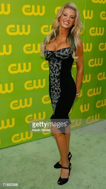 TV personality Ashley Massaro arrives at the CW Launch Party at the Warner Bros Studio on September 18 2006 in Burbank California