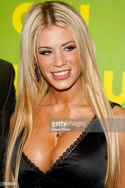 TV personality Ashley Massaro arrives for the CW Network Winter TCA Party at the RitzCarlton Huntington Hotel on January 19 2007 in Pasadena...