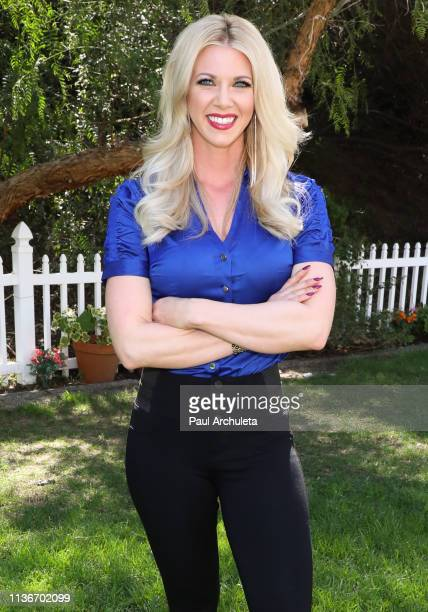 Personality Aubrey Marunde visits Hallmark's Home Family at Universal Studios Hollywood on March 18 2019 in Universal City California