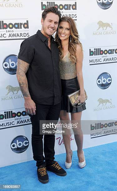 TV personality Audrina Patridge and Corey Bohan arrive at the 2013 Billboard Music Awards at MGM Grand Garden Arena on May 19 2013 in Las Vegas Nevada