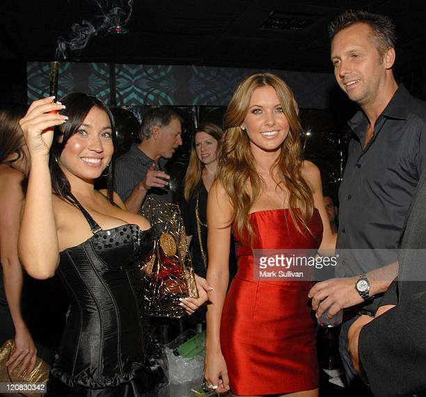 TV personality Audrina Patridge and photographer Steve Shaw attend Maxim October issue cover party at Ecco Ultra Lounge on September 24 2009 in Los...