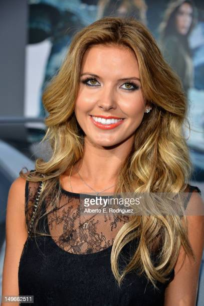 """Personality Audrina Patridge arrives at Los Angeles Premiere of """"Total Recall"""" at Grauman's Chinese Theatre on August 1, 2012 in Hollywood,..."""