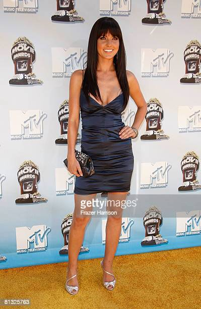 TV personality Audrina Patridge arrives at the 17th annual MTV Movie Awards held at the Gibson Amphitheatre on June 1 2008 in Universal City...