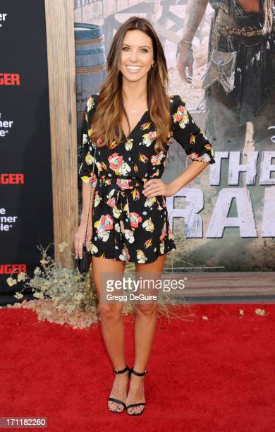 TV personality Audrina Patridge arrives at 'The Lone Ranger' World Premiere at Disney's California Adventure on June 22 2013 in Anaheim California