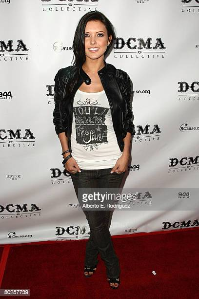 TV personality Audrina Patridge arrives at the opening of DCMA Collective's flagship store on March 14 2008 in Los Angeles California